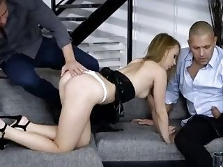 3some Kira Thorn - Rimming and DP - Girls Rimming ass eating ass fuck