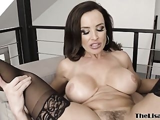 anal MILF pornstar Lisa Ann cum sprayed after anal banging big boobs big cocks