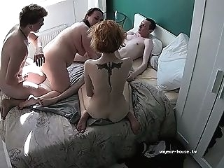 amateur French swingers in a group sex party group sex hardcore