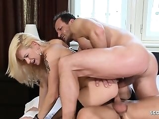 anal Landing Strip MILF Stacy Silver at Hard DP Anal Sex 3some blowjob double penetration