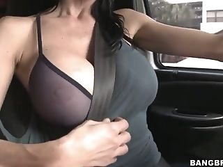 blond Car fun with a really busty mama and her boy big tits big ass