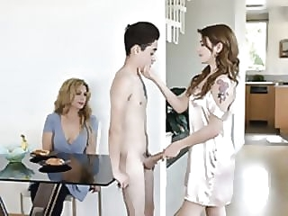 porn for women FamilyStrokes - Stepsiblings Gets Caught Fucking apart from Stepmom skinny small tits