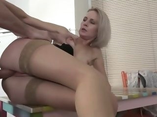 upskirt mom seduced friends stepson blonde voyeur