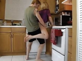 mature Mother Needs Some Help in The Kitchen From Her Son top rated old & young