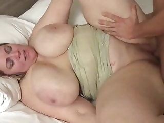 blowjob Chubby Wife with Huge BOOBS bbw cumshot