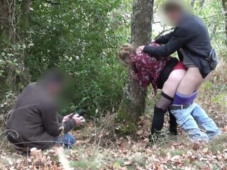 amateur Cuck Humilated into filming them outdoors..MFM british cuckold