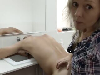 amateur Eating, Rimming & Pegging his Ass in the Bathroom so I can Eat his Hot Cum - MIN MOO anal blonde