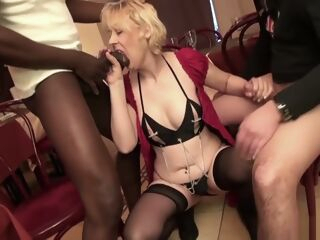 amateur French Mature Christiana Gangbanged In Stockings anal blonde