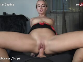 amateur MyDirtyHobby - Blonde MILF twerks on his thick cock while riding reverse cowgirl - POV blonde blowjob
