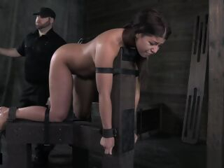 amateur Restrained big ass slave dominated and flogged bdsm big ass