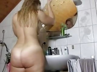amateur GERMAN Big Butt Shower big ass deutsch milf