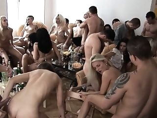 blowjob Beautiful Czech Girls Giving a Head at Home Party czech doggystyle