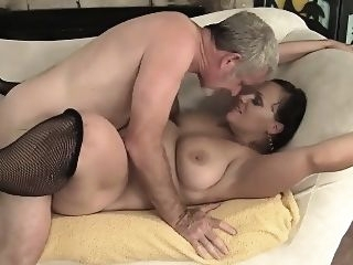 bbw Sexy and horny milf gets her ass and pussy licked so good big cocks brunette