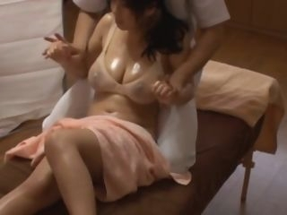 asian Japanese Cheating wife get massage fuck infornt of his Husband. japanese massage