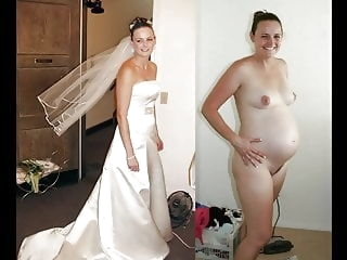 amateur BRIDES Dressed & Undressed blonde brunette