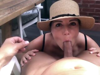 amateur Sexy Brunette makes her Boyfriend Cum after a Titsfuck big tits brunette