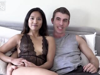 amateur Small titted chick, Tina Torres is having casual sex with Joel Gordo, in his bedroom asian brunette