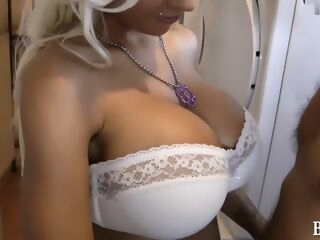 amateur My big juggs look sexy in this amateur blonde video big tits blonde